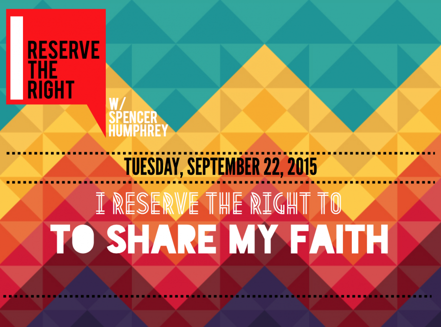 I Reserve the Right to Share My Story of Faith, and So Do You