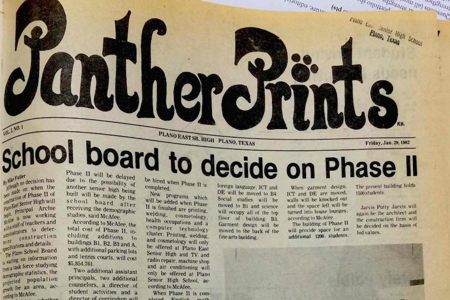 Infogram: Panther Prints Then and Now