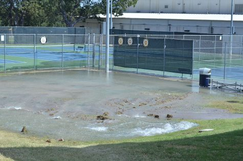 Water Pipe Bursts, School Day Continues