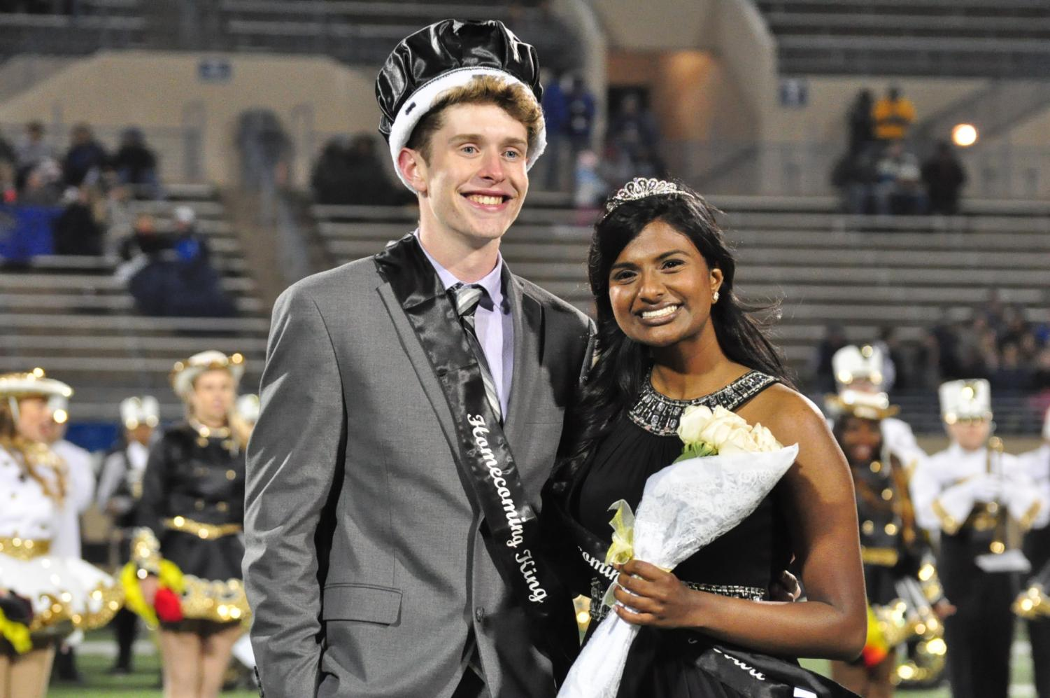 Aswathi Thomas and Jacob Garvin were annouced as the Homecoming Queen and King at the Homecoming Game on Friday, Oct. 27 at Kimborough Stadium.
