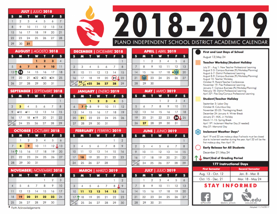 The+schedule+for+the+Plano+ISD+2018-19+school+year.