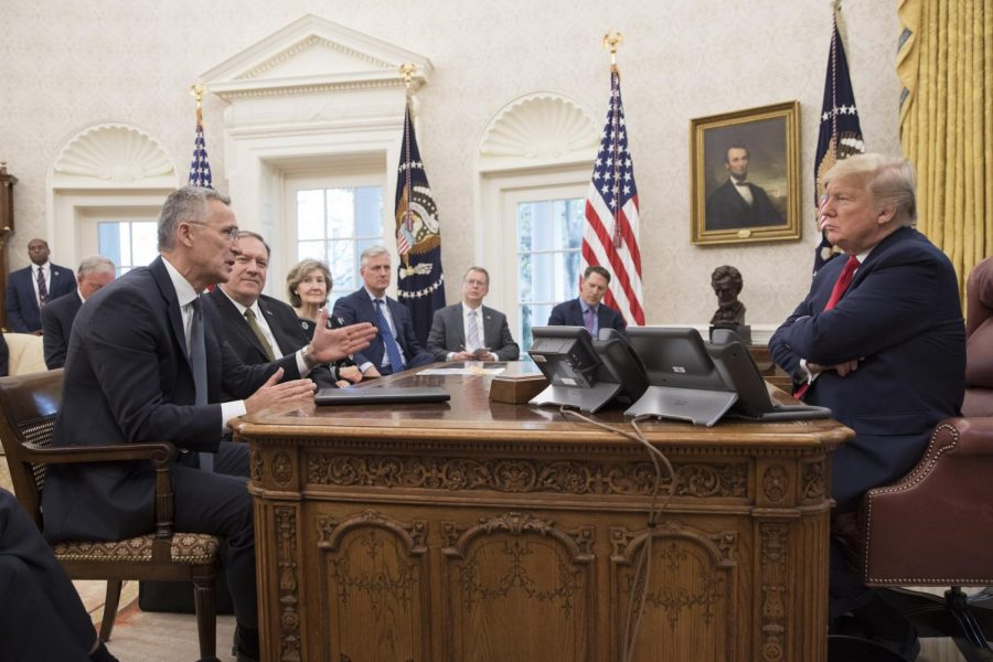President Trump meets with NATO Secretary General Jens Stoltenberg on Nov. 14.