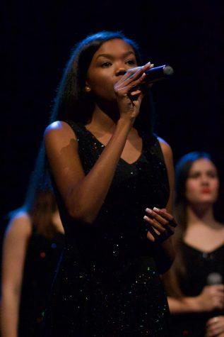 Junior Sound Invention member Klarke Pipkin sings at the jazz show Dec. 6.